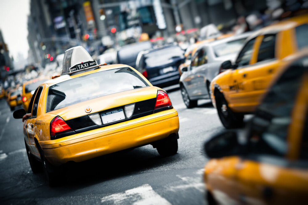 New York Taxi Cabs.
