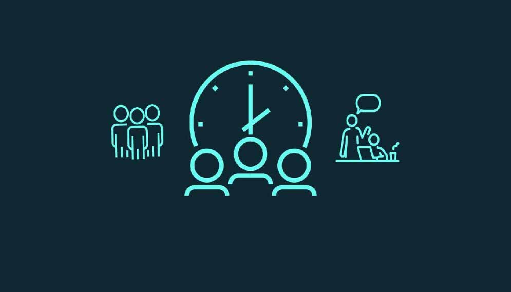 time and people illustration